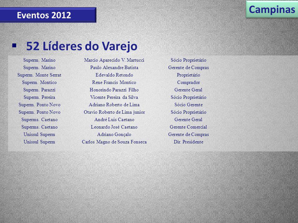 52 Líderes do Varejo Campinas Eventos 2012 Superm. Marino