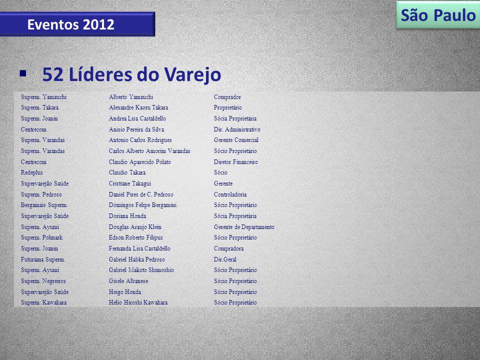 52 Líderes do Varejo São Paulo Eventos 2012 Superm. Yamauchi