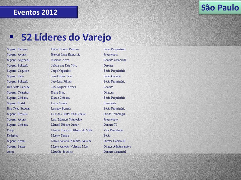 52 Líderes do Varejo São Paulo Eventos 2012 Superm. Pedroso