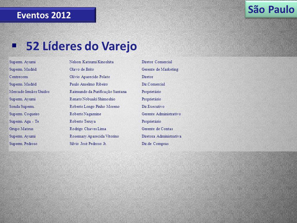 52 Líderes do Varejo São Paulo Eventos 2012 Superm. Ayumi