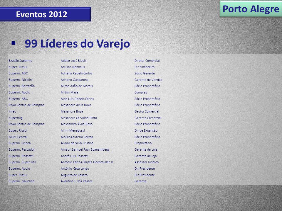 99 Líderes do Varejo Porto Alegre Eventos 2012 Brasão Superms