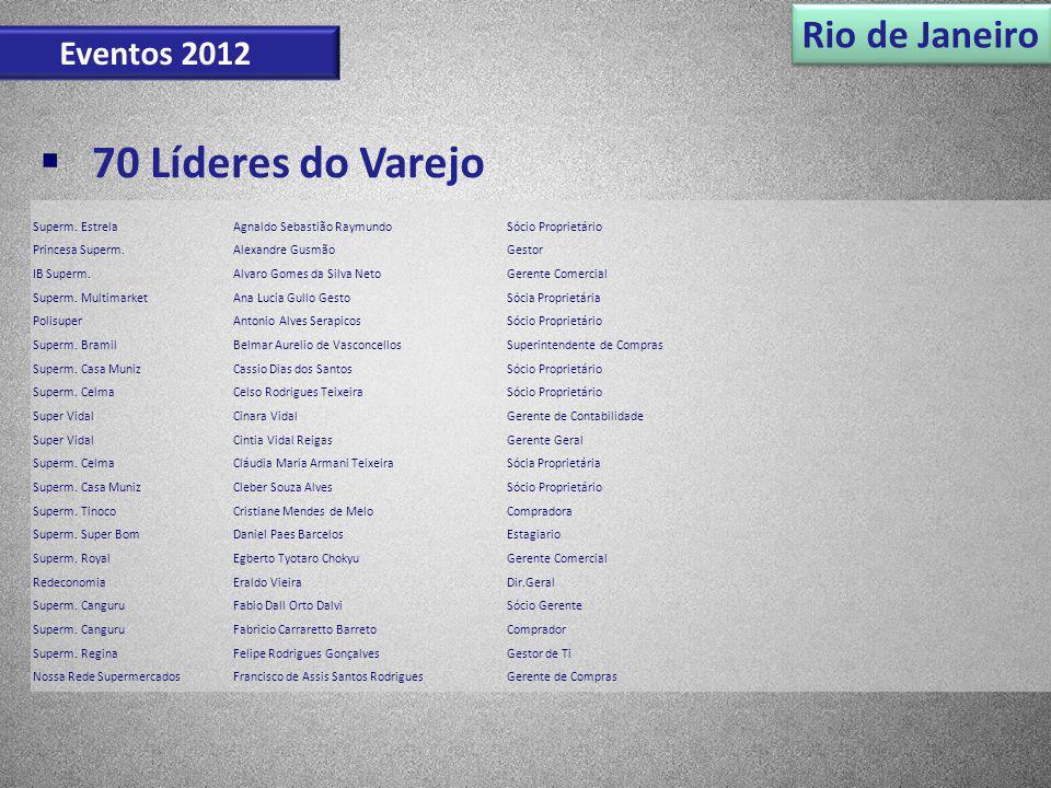 70 Líderes do Varejo Rio de Janeiro Eventos 2012 Superm. Estrela