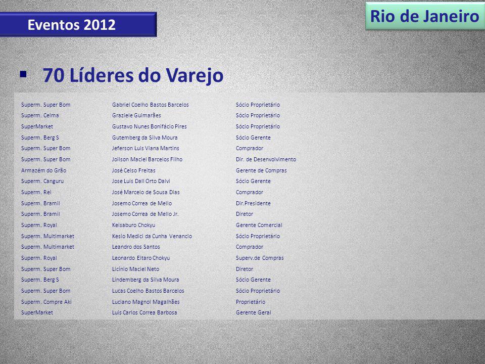 70 Líderes do Varejo Rio de Janeiro Eventos 2012 Superm. Super Bom
