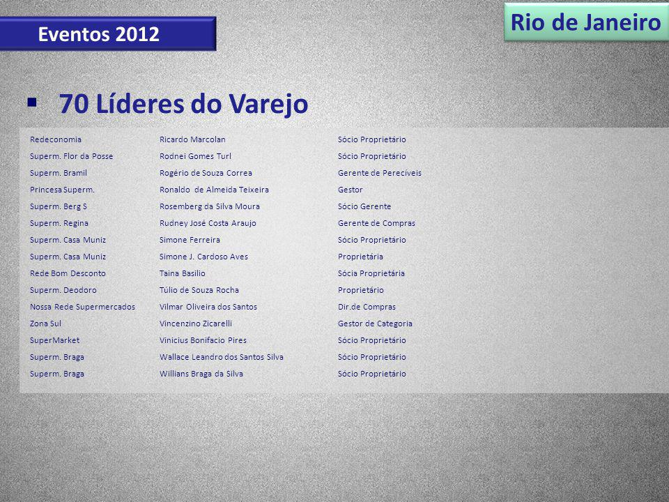 70 Líderes do Varejo Rio de Janeiro Eventos 2012 Redeconomia