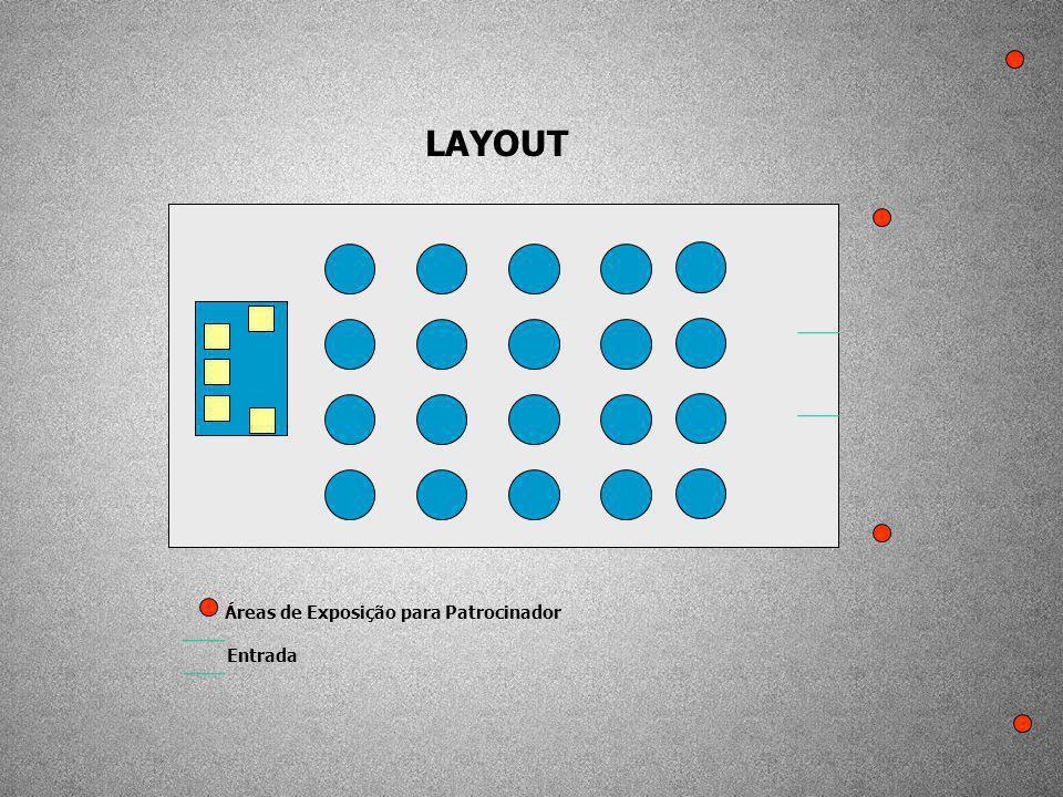 LAYOUT Áreas de Exposição para Patrocinador Entrada