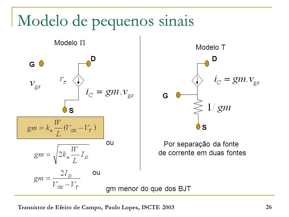 Modelo de pequenos sinais