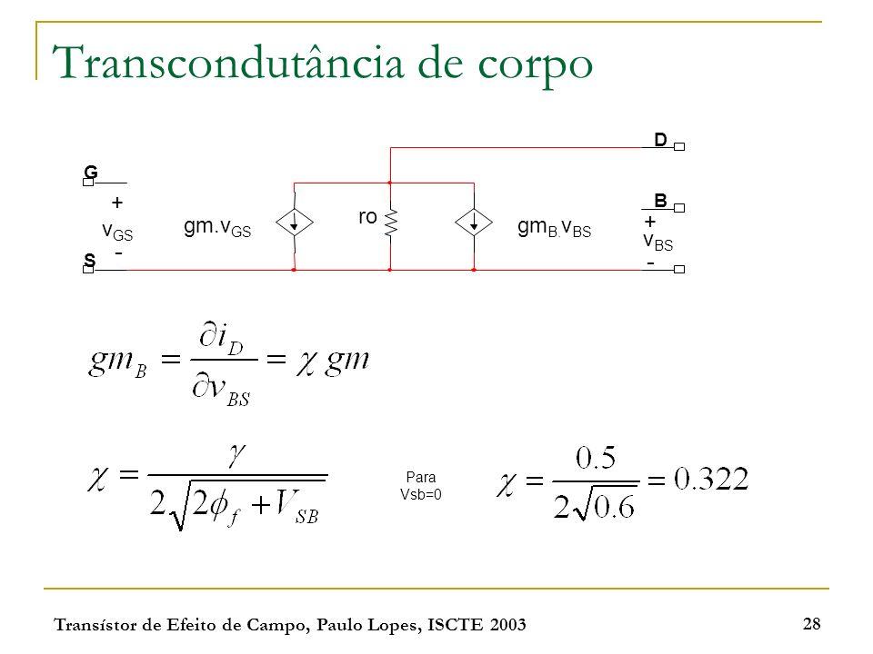 Transcondutância de corpo