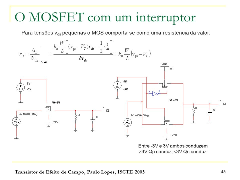 O MOSFET com um interruptor