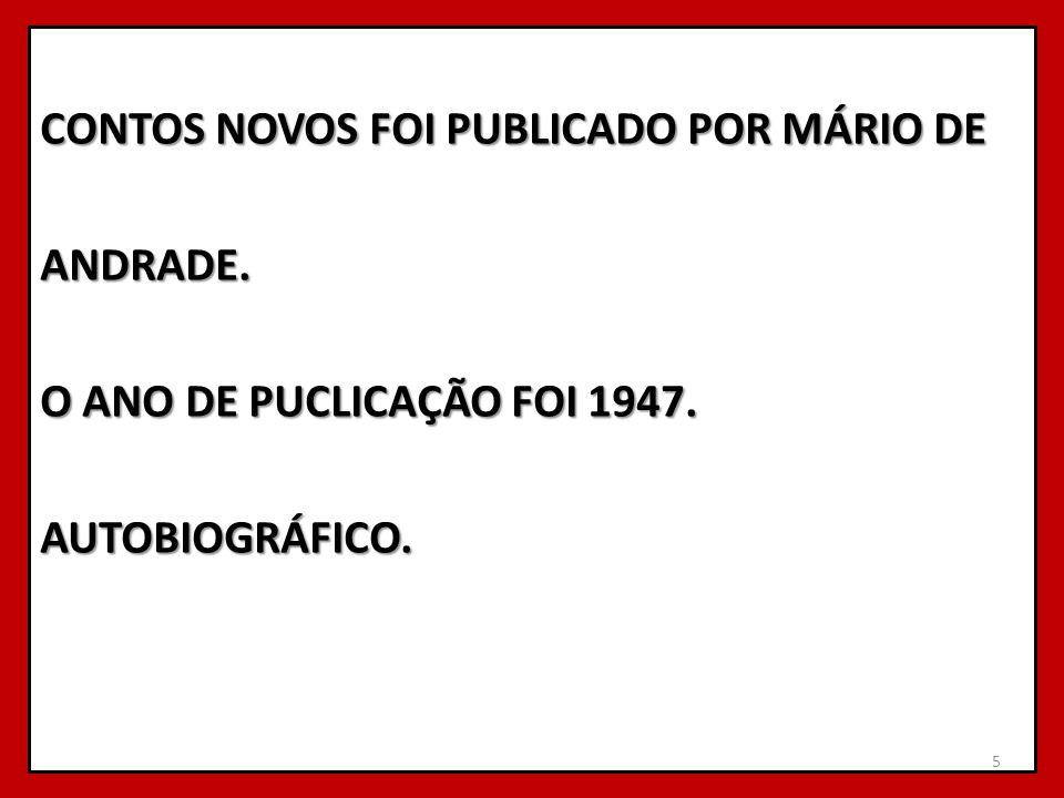 CONTOS NOVOS FOI PUBLICADO POR MÁRIO DE ANDRADE
