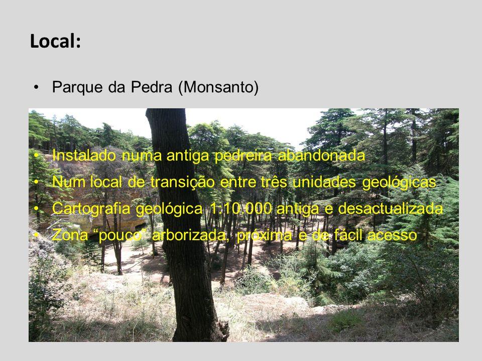 Local: Parque da Pedra (Monsanto)