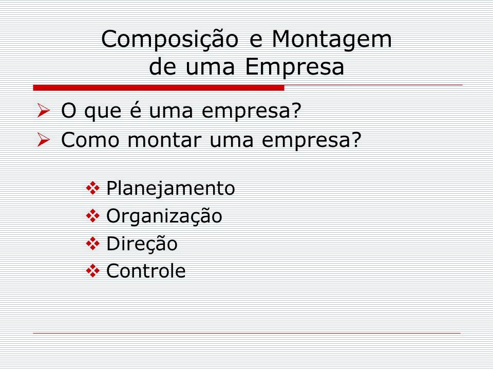 Composição e Montagem de uma Empresa