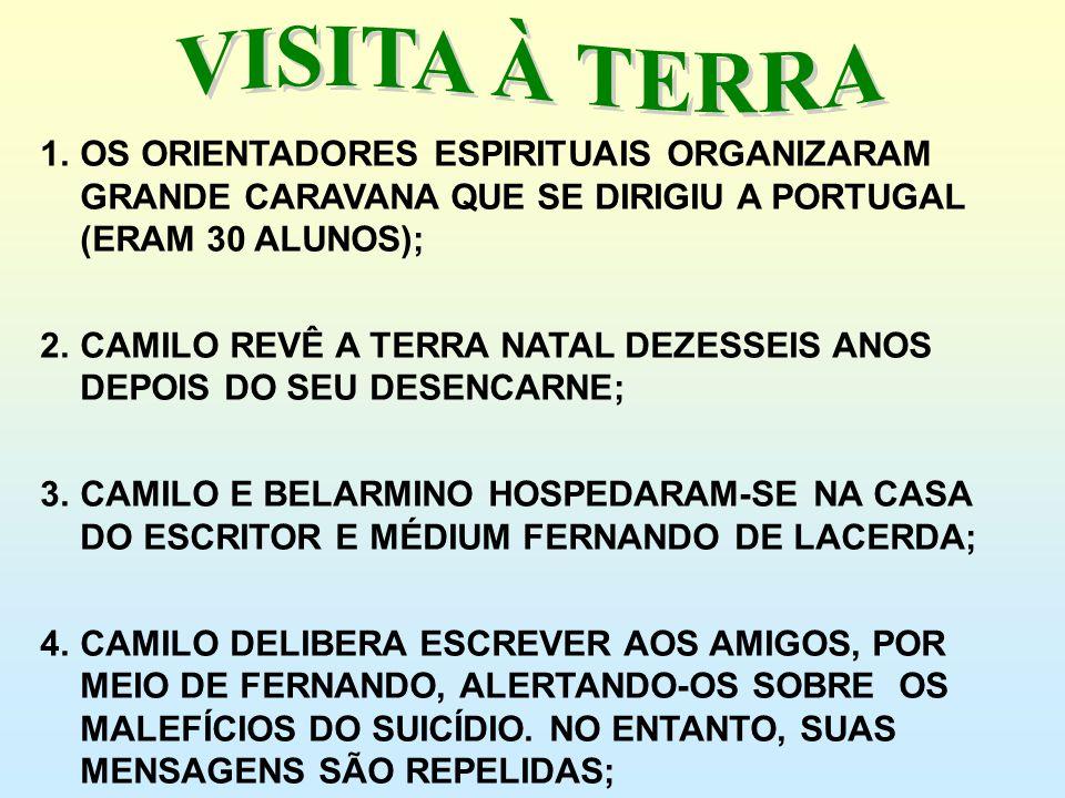 VISITA À TERRA OS ORIENTADORES ESPIRITUAIS ORGANIZARAM GRANDE CARAVANA QUE SE DIRIGIU A PORTUGAL (ERAM 30 ALUNOS);