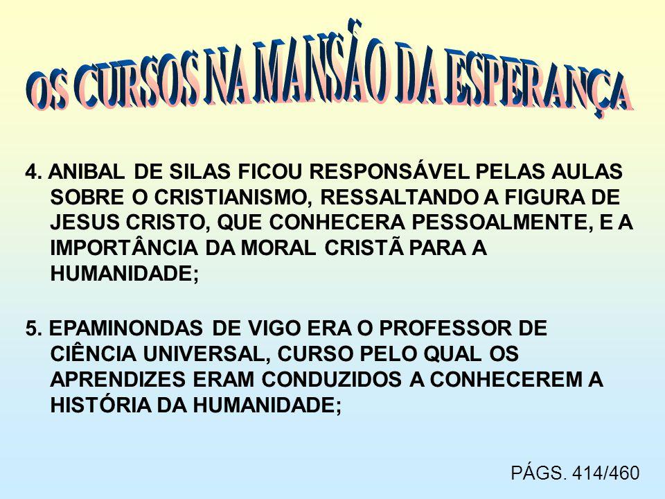 OS CURSOS NA MANSÃO DA ESPERANÇA