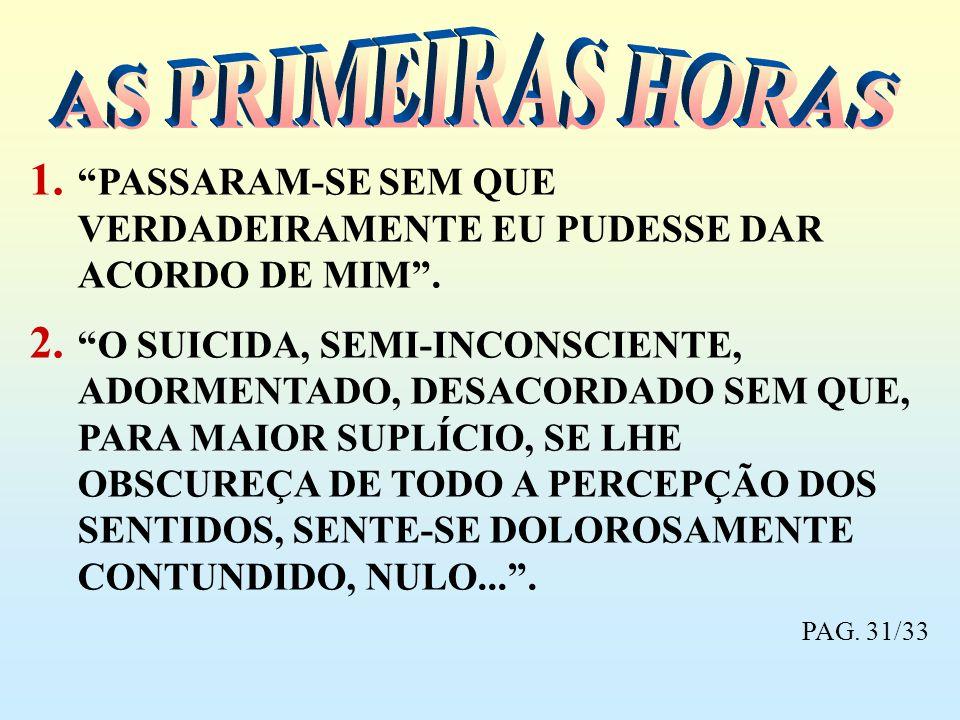 AS PRIMEIRAS HORAS PASSARAM-SE SEM QUE VERDADEIRAMENTE EU PUDESSE DAR ACORDO DE MIM .