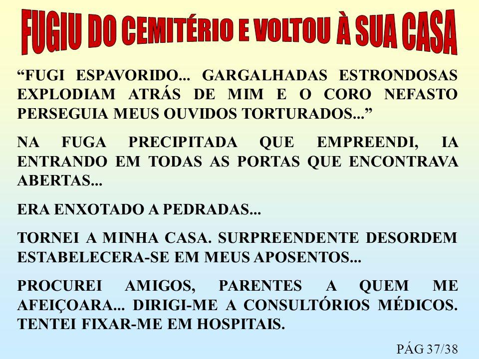 FUGIU DO CEMITÉRIO E VOLTOU À SUA CASA