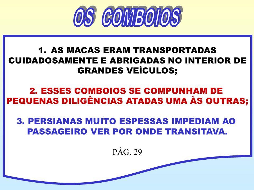 OS COMBOIOS AS MACAS ERAM TRANSPORTADAS