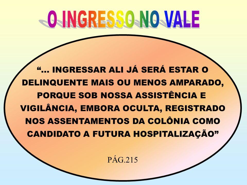 O INGRESSO NO VALE ... INGRESSAR ALI JÁ SERÁ ESTAR O