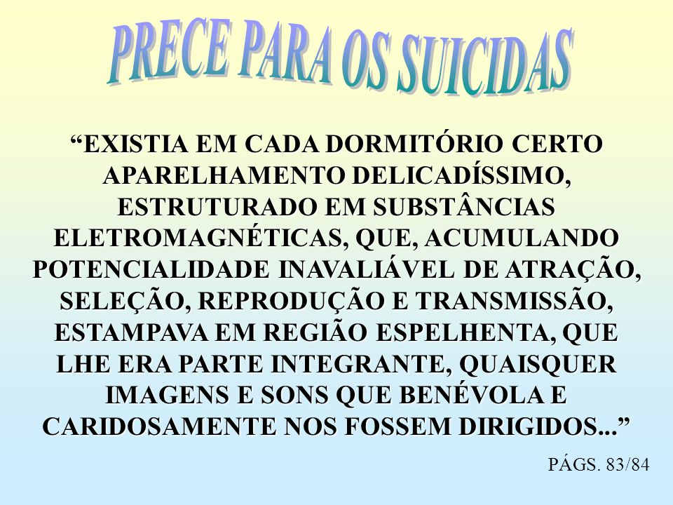 PRECE PARA OS SUICIDAS