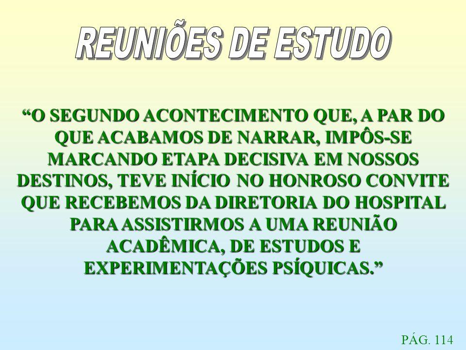 REUNIÕES DE ESTUDO