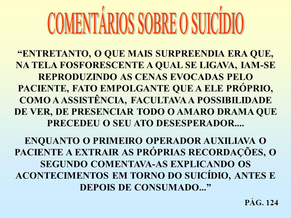 COMENTÁRIOS SOBRE O SUICÍDIO
