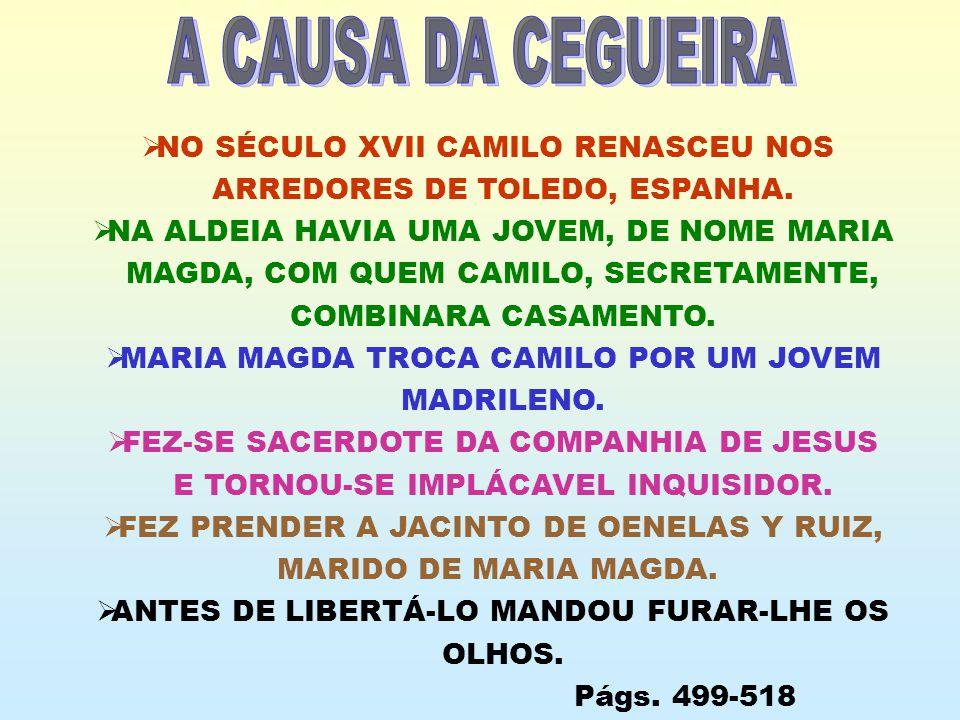 A CAUSA DA CEGUEIRA NO SÉCULO XVII CAMILO RENASCEU NOS