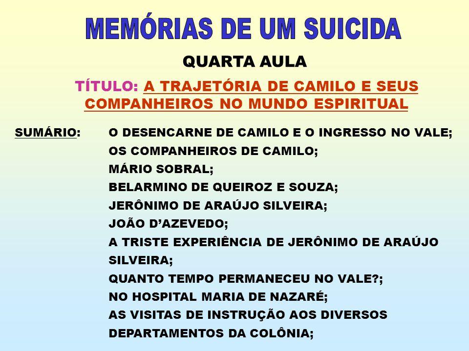 MEMÓRIAS DE UM SUICIDA QUARTA AULA