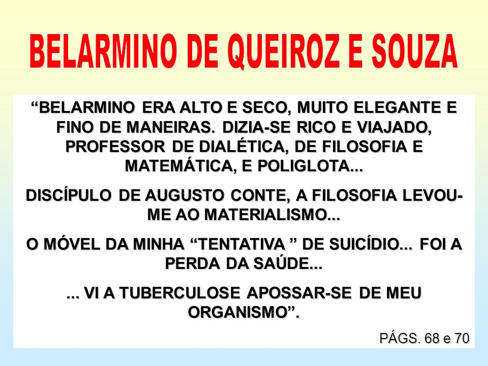 BELARMINO DE QUEIROZ E SOUZA
