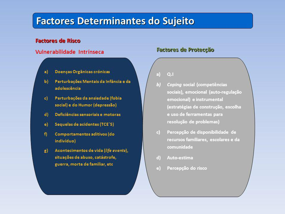 Factores Determinantes do Sujeito
