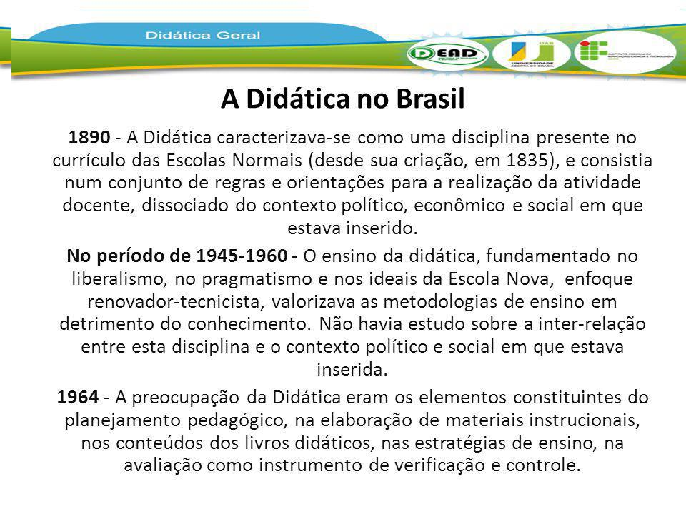 A Didática no Brasil