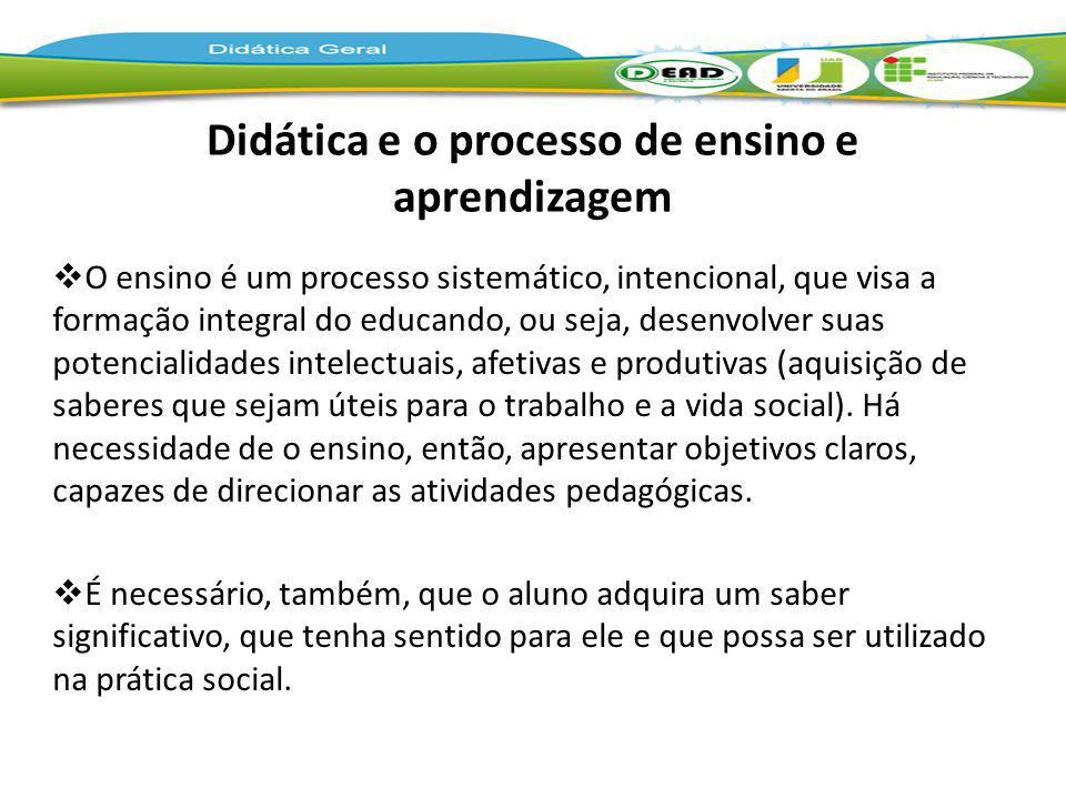 Didática e o processo de ensino e aprendizagem