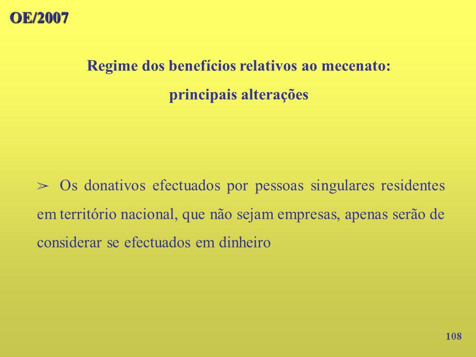 Regime dos benefícios relativos ao mecenato: principais alterações