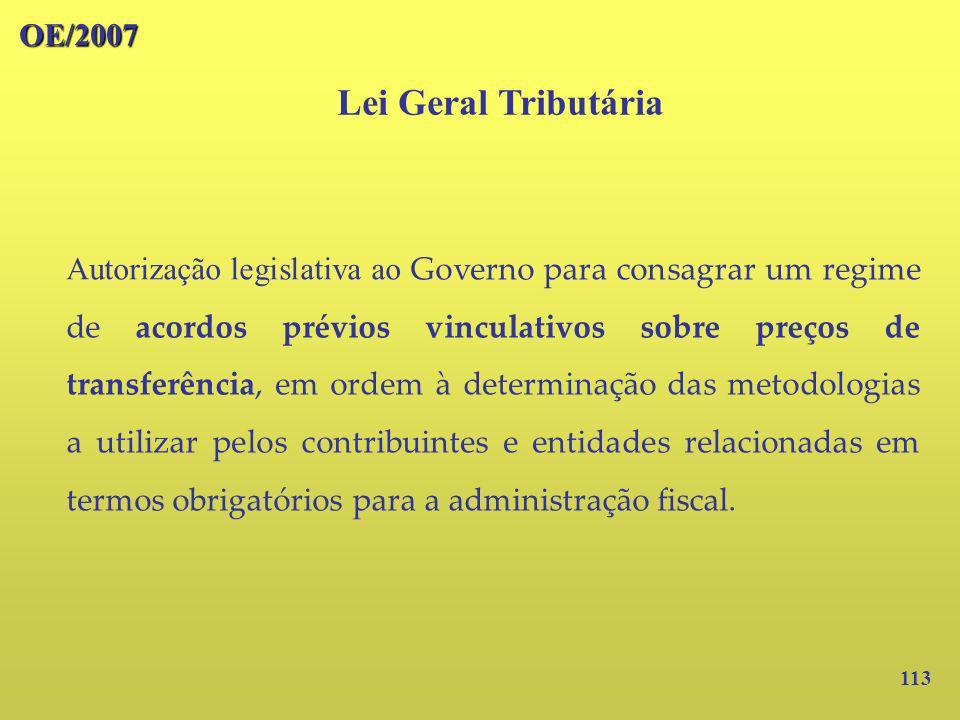 Lei Geral Tributária OE/2007