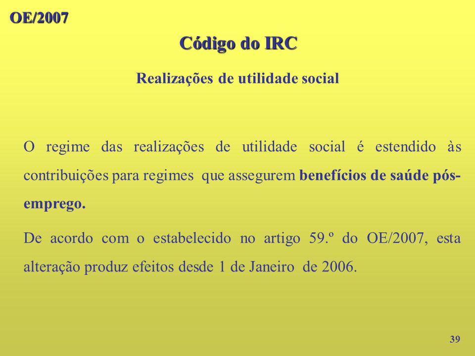 Realizações de utilidade social