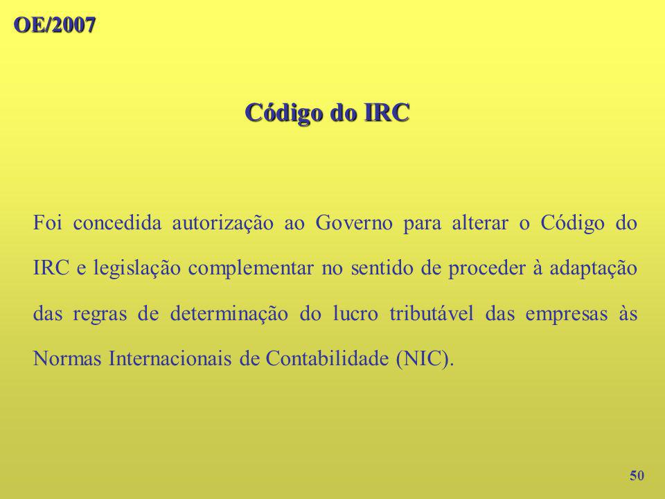 OE/2007 Código do IRC.