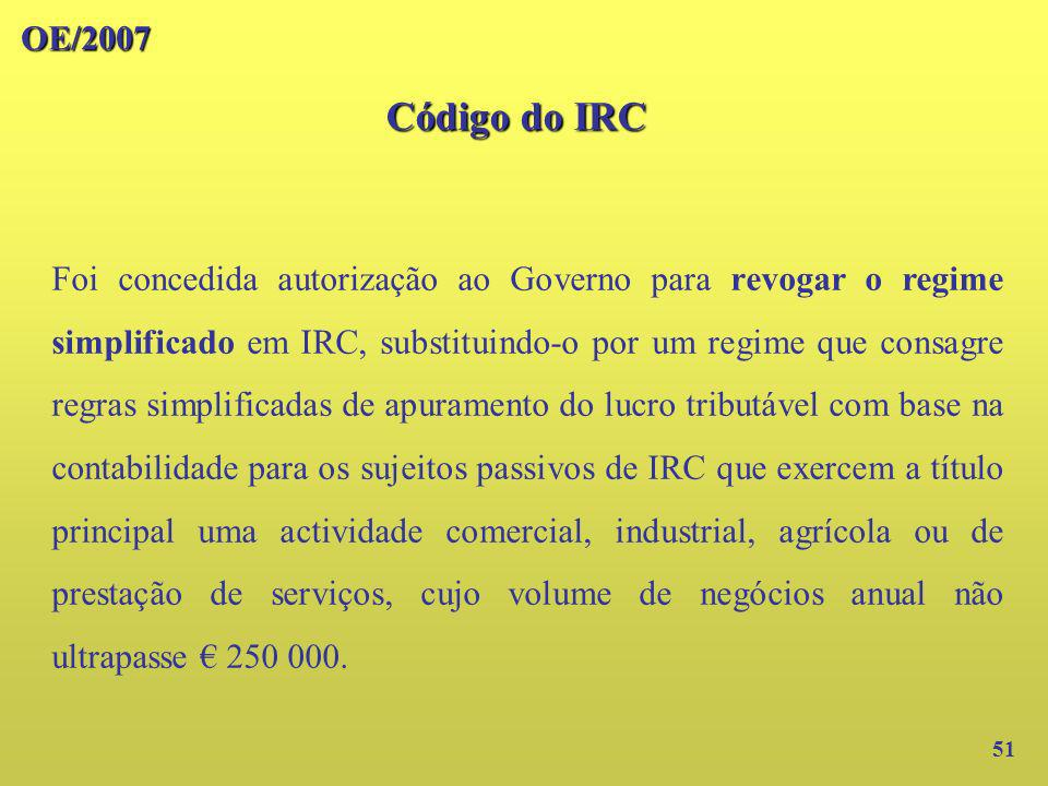 OE/2007Código do IRC.