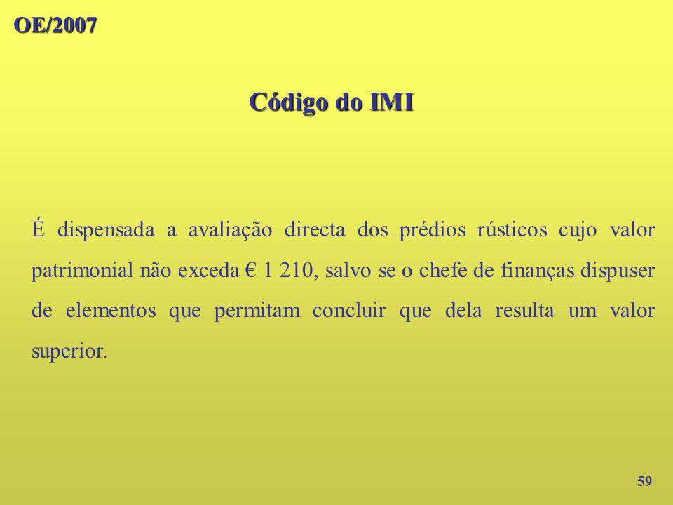 OE/2007 Código do IMI.