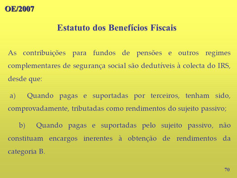 Estatuto dos Benefícios Fiscais