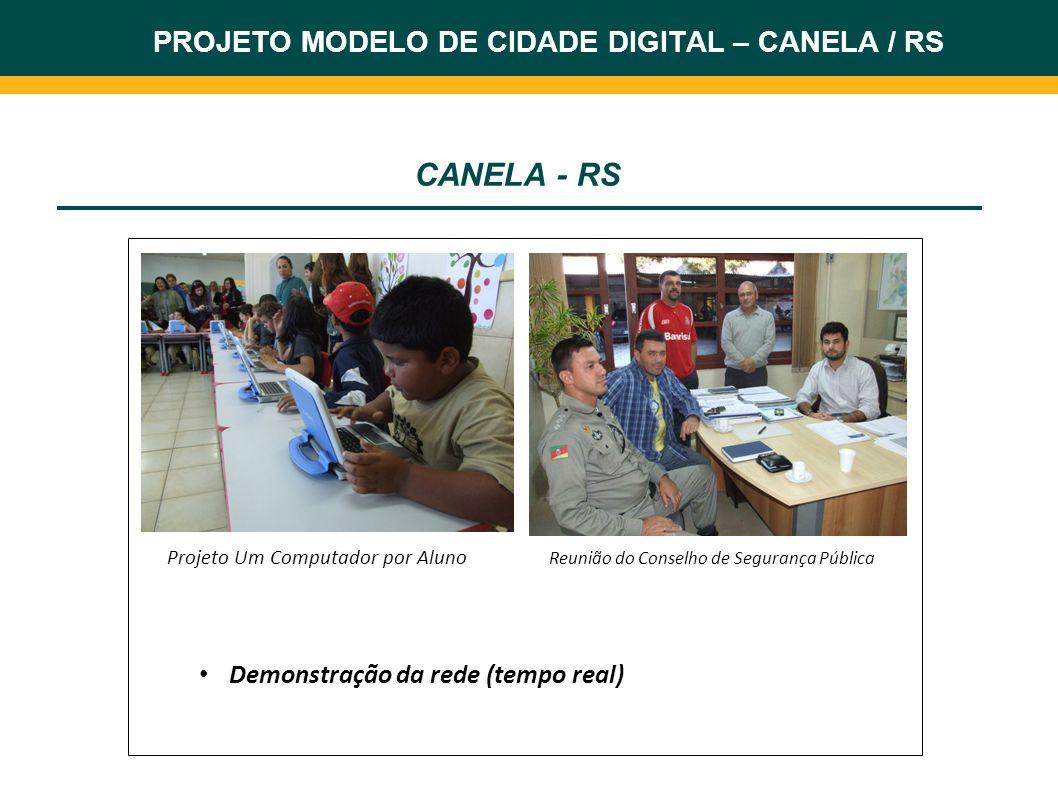 CANELA - RS PROJETO MODELO DE CIDADE DIGITAL – CANELA / RS