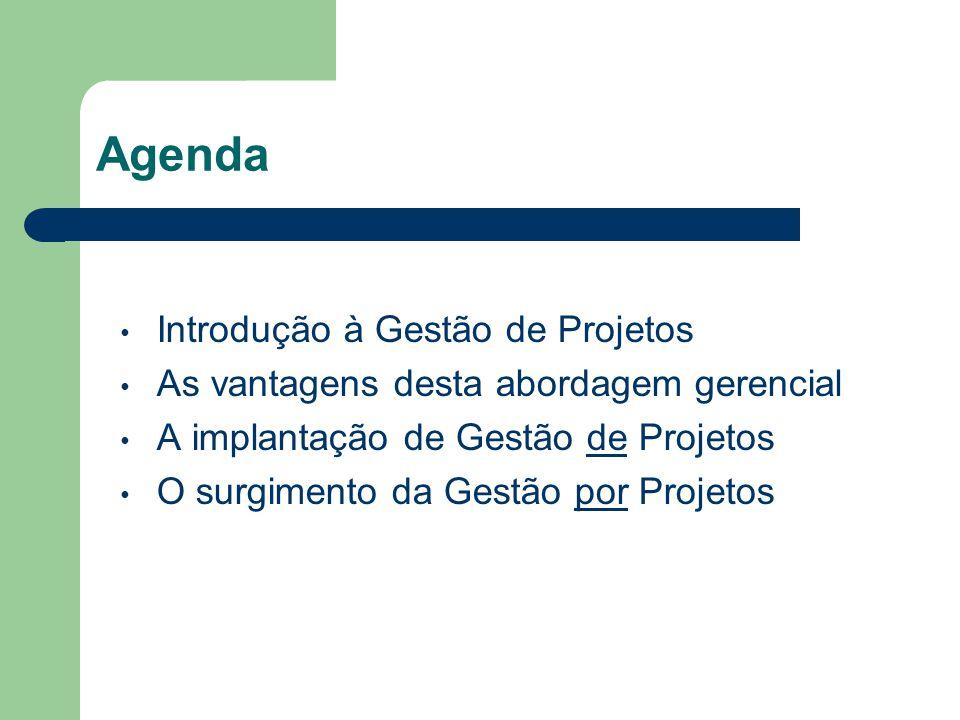 Agenda Introdução à Gestão de Projetos