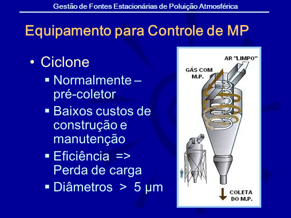 Equipamento para Controle de MP
