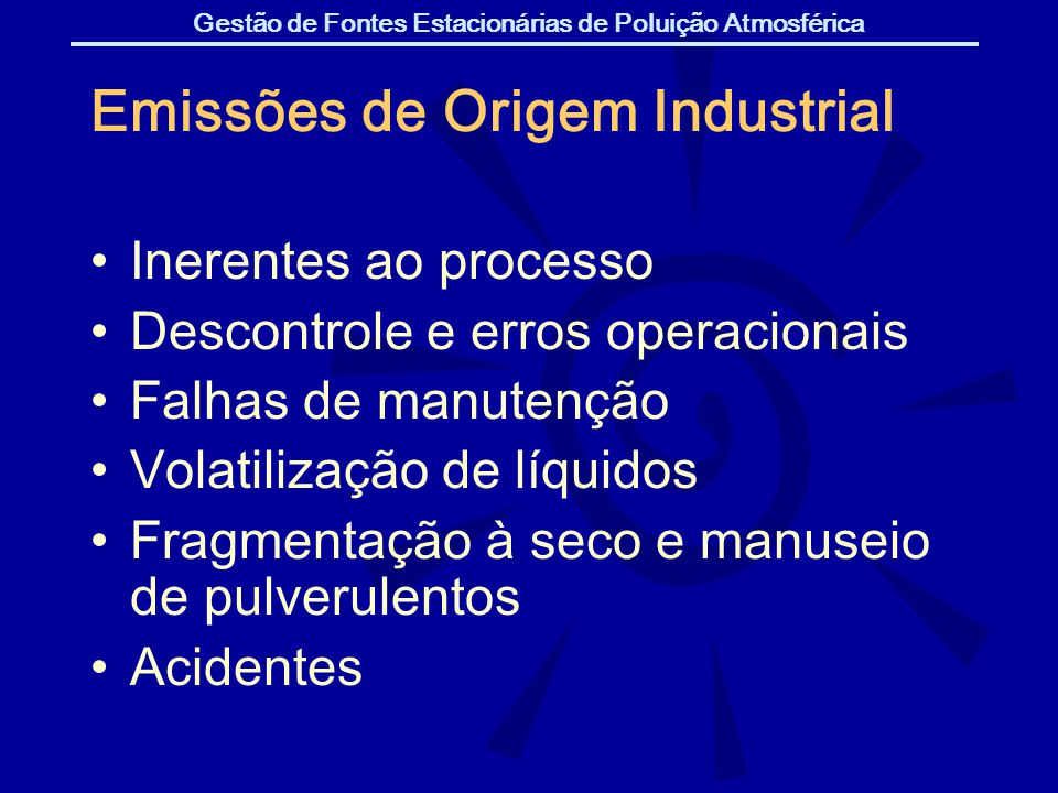 Emissões de Origem Industrial