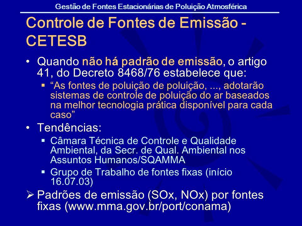 Controle de Fontes de Emissão - CETESB