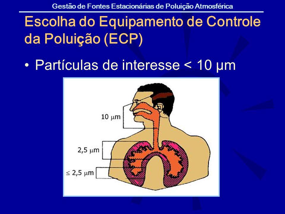 Escolha do Equipamento de Controle da Poluição (ECP)