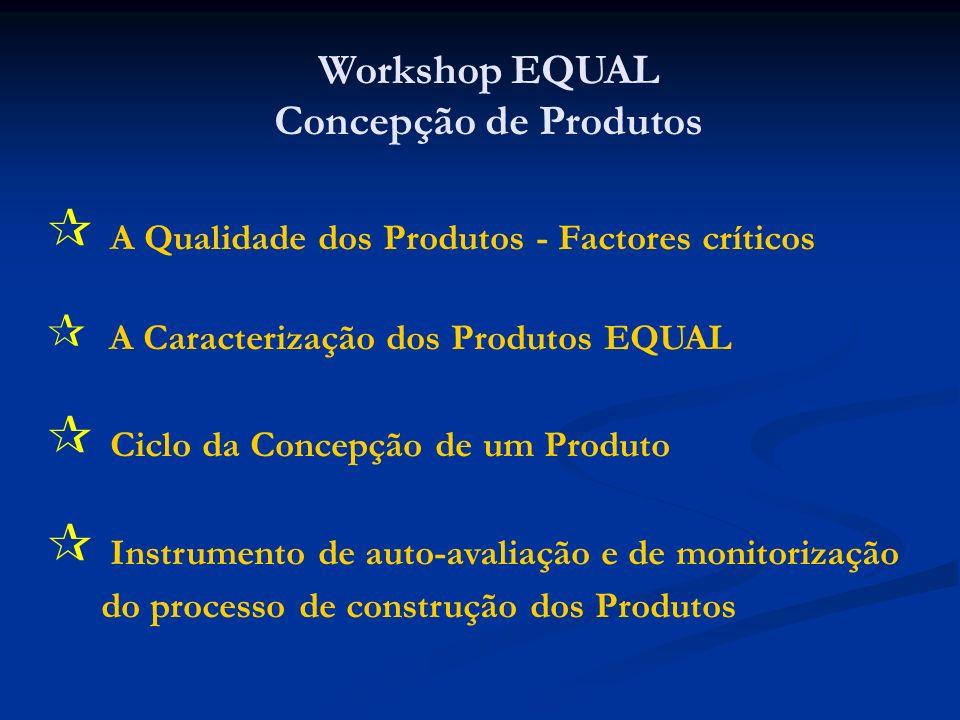 Workshop EQUAL Concepção de Produtos