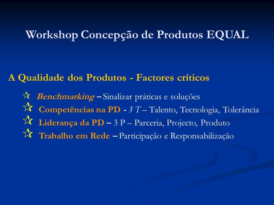 Workshop Concepção de Produtos EQUAL