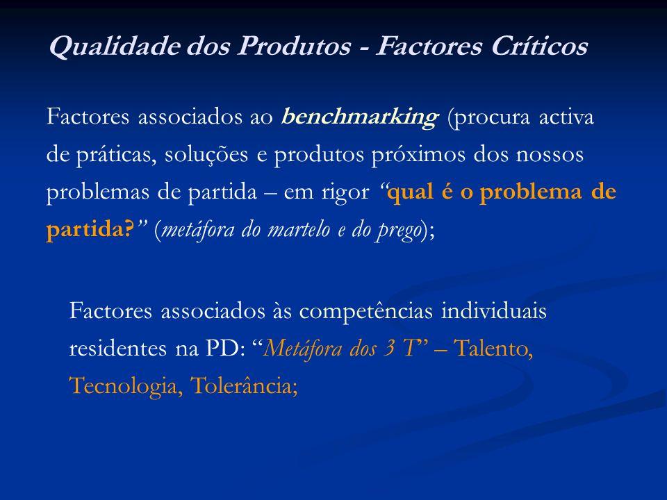 Qualidade dos Produtos - Factores Críticos