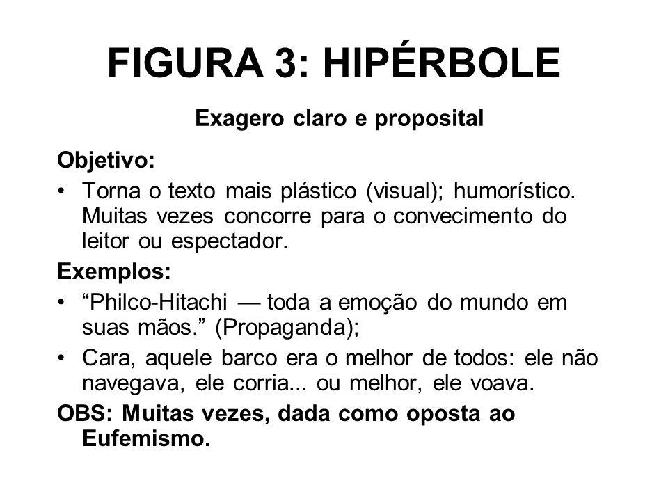FIGURA 3: HIPÉRBOLE Exagero claro e proposital