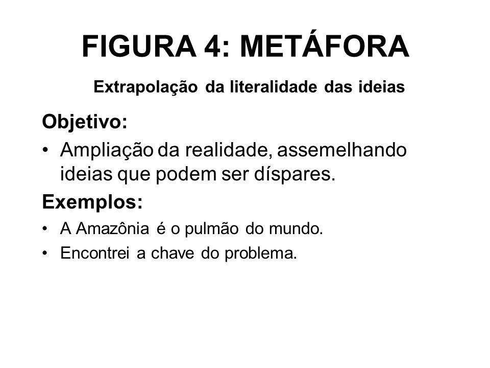 FIGURA 4: METÁFORA Extrapolação da literalidade das ideias