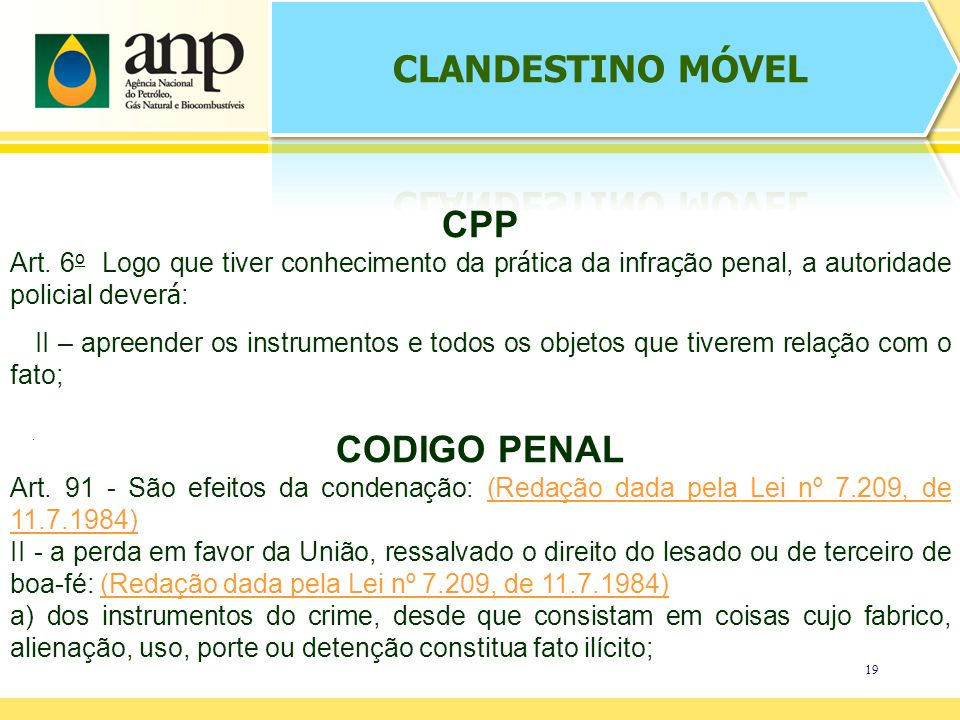 CLANDESTINO MÓVEL CPP CODIGO PENAL