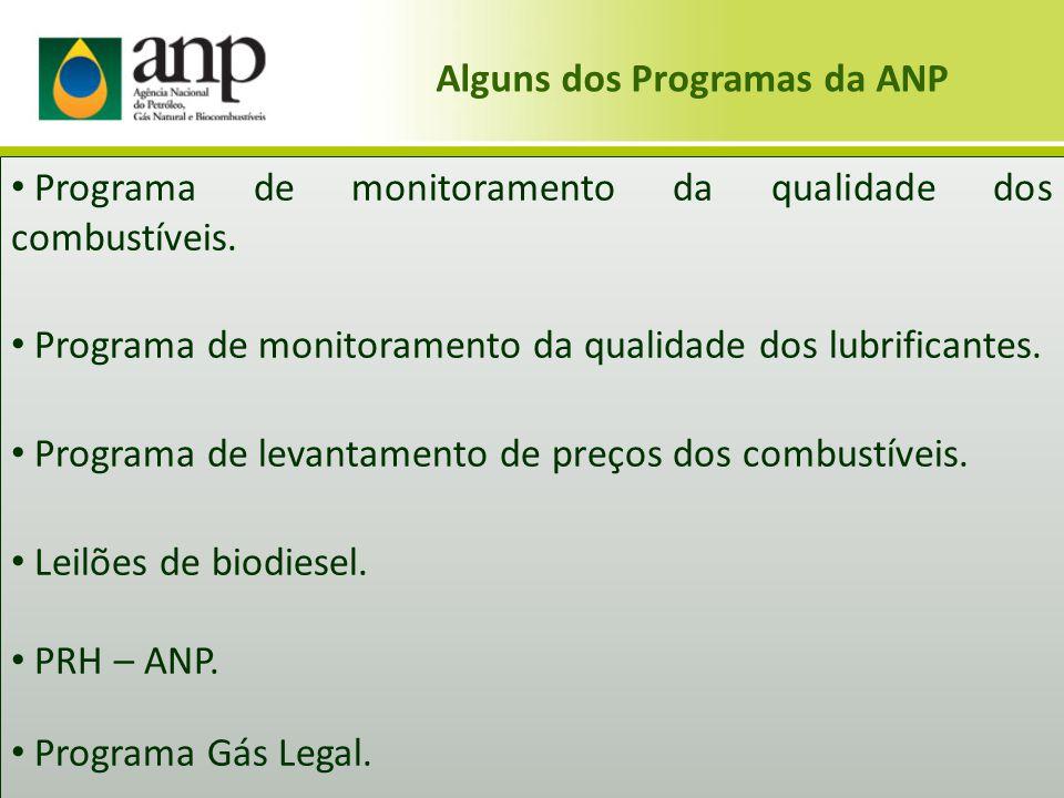 Alguns dos Programas da ANP